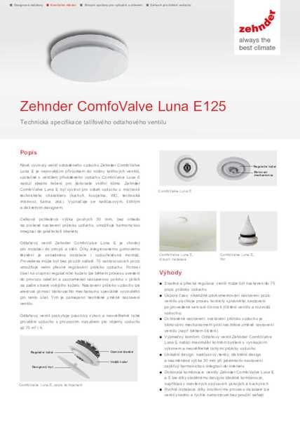 Technické parametre Luna E