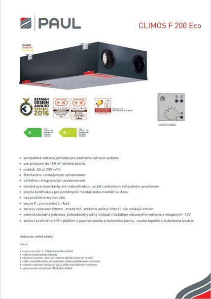 Tech. parametre CLIMOS 200