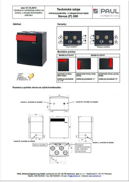 Tech. parametre NOVUS 300